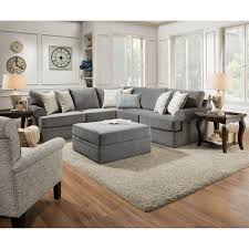 Loveseat Ottoman Furniture Simmons Flannel Charcoal Sofa Simmons Upholstery