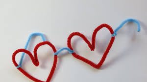 diy pipe cleaner heart shape goggles easy craft for kids kids