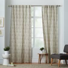 Cotton Canvas Curtains Cotton Canvas Sted Dots Curtains Set Of 2 Platinum West Elm