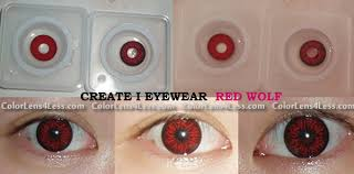 red wolf eyes crazy halloween contacts pair redwolf 39 99