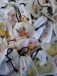 Pretzel Bags For Favors Pokemon Party Treat Favor Bags Birthday Wikii