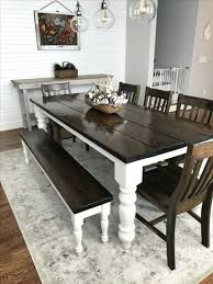 Rustic Farmhouse Dining Table With Bench Dining Table Distressed Farmhouse Dining Room Tables Rustic