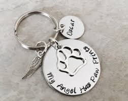Remembrance Keychain My Angel Has Paws