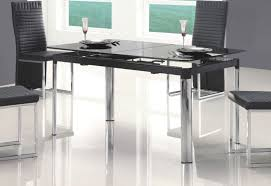 glass table black legs modern adjustable black glass dining table with chrome legs 389 00