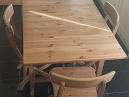 IKEA LEKSVIK DROP LEAF TABLE WITH  CHAIRS In South Croydon - Ikea leksvik drop leaf dining table