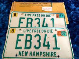 New Hampshire Vanity Plate 49 Best Vintage License Plates Images On Pinterest License
