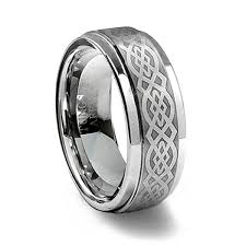 celtic ring brushed tungsten carbide celtic ring tungsten affinity
