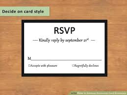 response card how to address response card envelopes with pictures wikihow