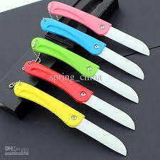 ceramic kitchen knives review ceramic folding knife outdoor travel tools 3 fruit color handle