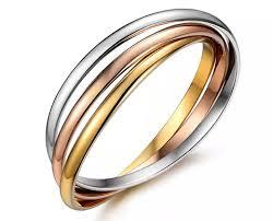 titanium steel love bracelet images Triple interlinked titanium steel love bracelet png