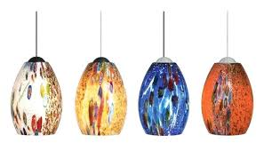 Blown Glass Pendant Lights Colorful Pendant Lights Ricardoigea