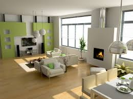 modern dining room and living room combination with small