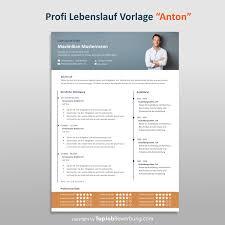 Lebenslauf Vorlage Erfolgreich Bewerben Mit Profi Lebenslauf Vorlage Anton