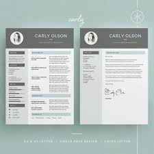 carly resume cv template word photoshop indesign