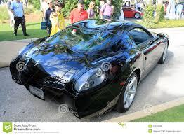 zagato ferrari very rare modern ferrari sports car rear editorial stock photo