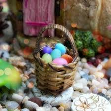 easter egg basket easter egg basket miniature easter egg basket easter fairy garden
