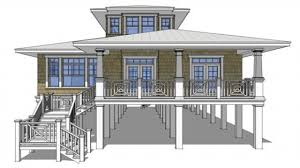 beach cottage house plans on pilings