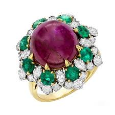 ruby emerald rings images 1965 bulgari ruby emerald diamond gold dolce vita ring for sale at jpg