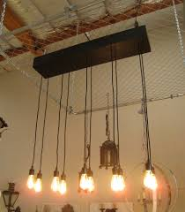 edison bulb chandelier dining room contemporary with bead board