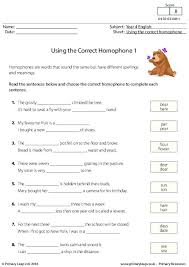 primaryleap co uk using the correct homophone 1 worksheet