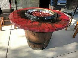 wine barrel fire table wine barrel fire pit table fire eye atozbuddy