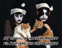 Black Christmas Meme - gf got a groupon for xmas cards can we bring the cats she asked me