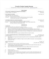 sample graduate resume transfer student sample resume sample