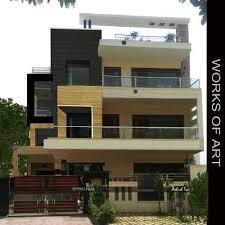 Home Exterior Design In Delhi | residential exterior services residential flat exterior designing