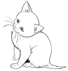 coloring page good looking how to drow animals draw easy kitten