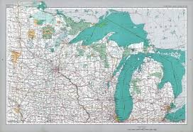 Map Of Great Lakes The National Atlas Of The United States Of America Perry