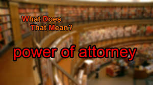 Meaning Of Durable Power Of Attorney by What Does Power Of Attorney Mean Youtube
