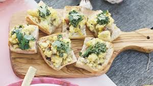 calabrian cuisine calabrian scrambled eggs with jalapeno pesto bruschetta today com