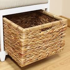 Seagrass Bathroom Storage Hartleys Bench Cushion Seat Seagrass Wicker Storage
