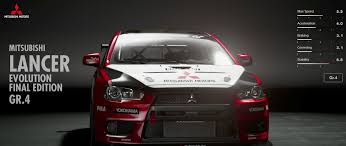evolution mitsubishi 8 mitsubishi lancer evolution final edition gr 4 gran turismo