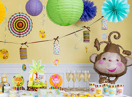 Decorating For A Baby Shower On A Budget Jungle Animals Baby Shower Ideas Party City