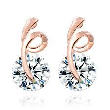 top earings 2017 top popular fashion zircon earring jewelry accessories