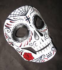 day of the dead masks day of the dead mask by mummerscat on deviantart