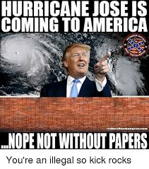 Jose Meme - hurricane jose is coming to america oneck rednecknationgearcom