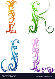tribal letters royalty free vector image