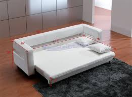 Modern White Leather Sofa Bed Sleeper Awesome Sofa Bed White Leather Modern White Leather Sofa Bed