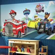 york wallcoverings 10 5 ft x 6 ft deer chair rail wall mural 72 in w x 126 in h paw patrol xl chair