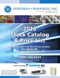 hoffman hoffman 2013 stock catalog and pricelist by hoffman