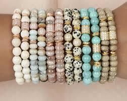 bangle beaded bracelet images Beaded bracelets etsy jpg