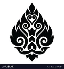 thai design thai art pattern traditional design form thailand vector image