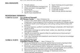 Occupational Therapy Resume Examples by Massage Therapist Resume Entry Level Reentrycorps