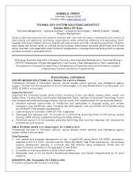 Architect Resume Samples System Architect Sample Resume