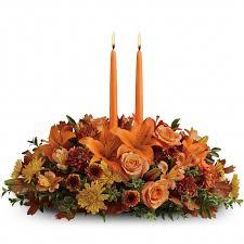 thanksgiving centerpiece 2 candles in kirkwood mo kirkwood florist