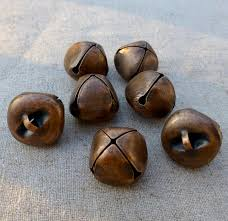 10 pcs big 20 mm copper jingle bells with loop kookeli art