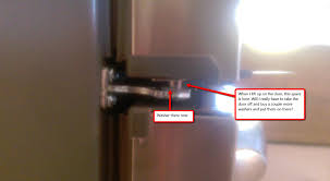 how the hell do i adjust my fridge door diy