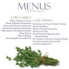 thanksgiving menus diana darling food faith fitness minimalism music and more